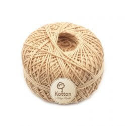 Kotton 4 ply Cotton Yarn Ball – Light Brown 02L