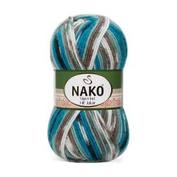 Nako Super Inci Hit Jakar Yarn Multi Color 81626