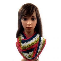Women's Shell Stitch Neck Warmer - Multicolor
