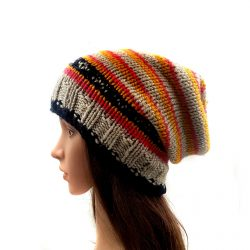 Women's Winter Slouch Beanie Cap - Multi Color