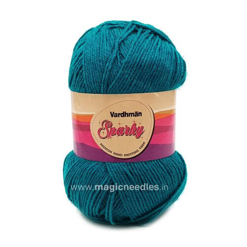 Vardhman Sparky Yarn - Peacock Green Yarn SEH028
