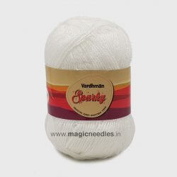 Vardhman Sparky Yarn - Bleach White SEB001