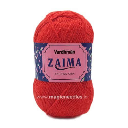 Vardhman Zaima Yarn - Brick Red ZMD014