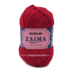 Vardhman Zaima Yarn - Red ZMH037