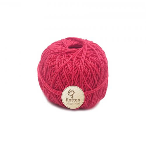 Kotton 3 ply Mercerised Cotton Yarn Ball - Coral Red 29
