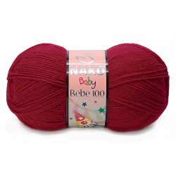 Nako Bebe 100 Yarn - 3641 Carmen Red