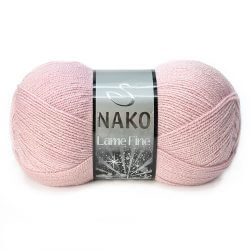 Nako Lame Fine Yarn - Dried Rose 275