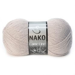 Nako Lame Fine Yarn - Grey Mauve 3079