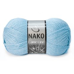 Nako Lame Fine Yarn - Ice Blue 11476