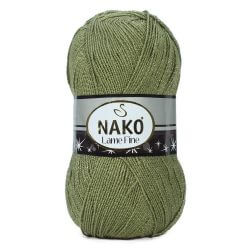 Nako Lame Fine Yarn - Khaki Green 268