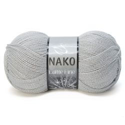 Nako Lame Fine Yarn - Light Grey 130