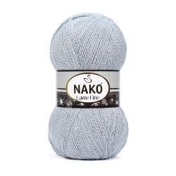 Nako Lame Fine Yarn - Light Grey 6671