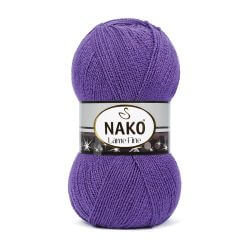 Nako Lame Fine Yarn - Purple 10445