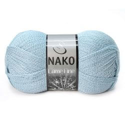 Nako Lame Fine Yarn - Royal Mint 10471