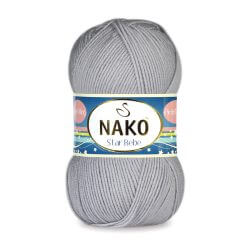 Nako Star Bebe Yarn - Grey 2496