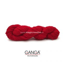 Ganga Cuddly 4 ply Acrylic Yarn - Bright Red 49