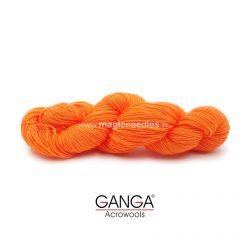 Ganga Cuddly 4 ply Acrylic Yarn - Fluorescent Orange 60