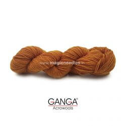Ganga Cuddly 4 ply Acrylic Yarn - Golden Brown 117