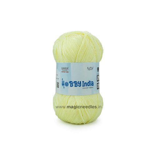 Ganga Hobby India Crochet Thread - Yellow CUD50