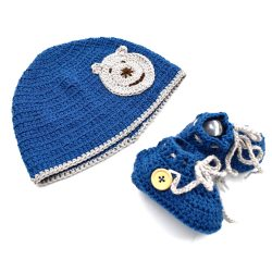 Baby Cap and Booties Set – Multi Color 4248